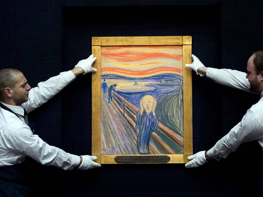 Edvard Munch's The Scream sold at auction for almost $120m