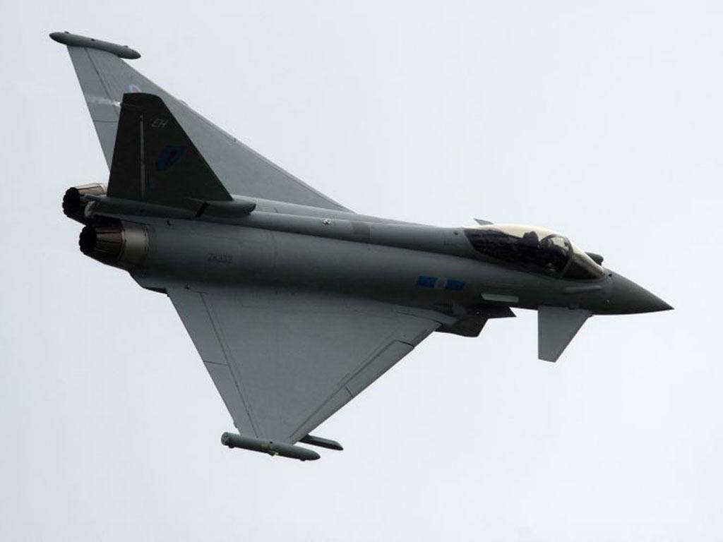 RAF Typhoon fast jets will be among the military aircraft patrolling the restricted zone
