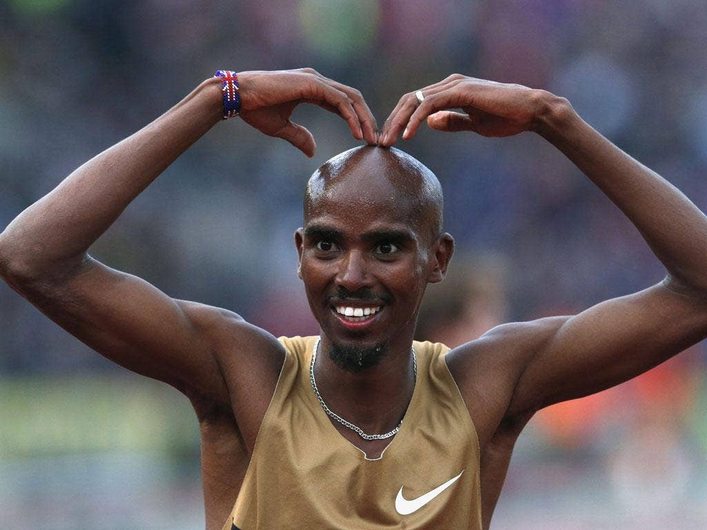 Mo Farah: Won the 5,000m at the Aviva London Grand Prix with a relaxed performance