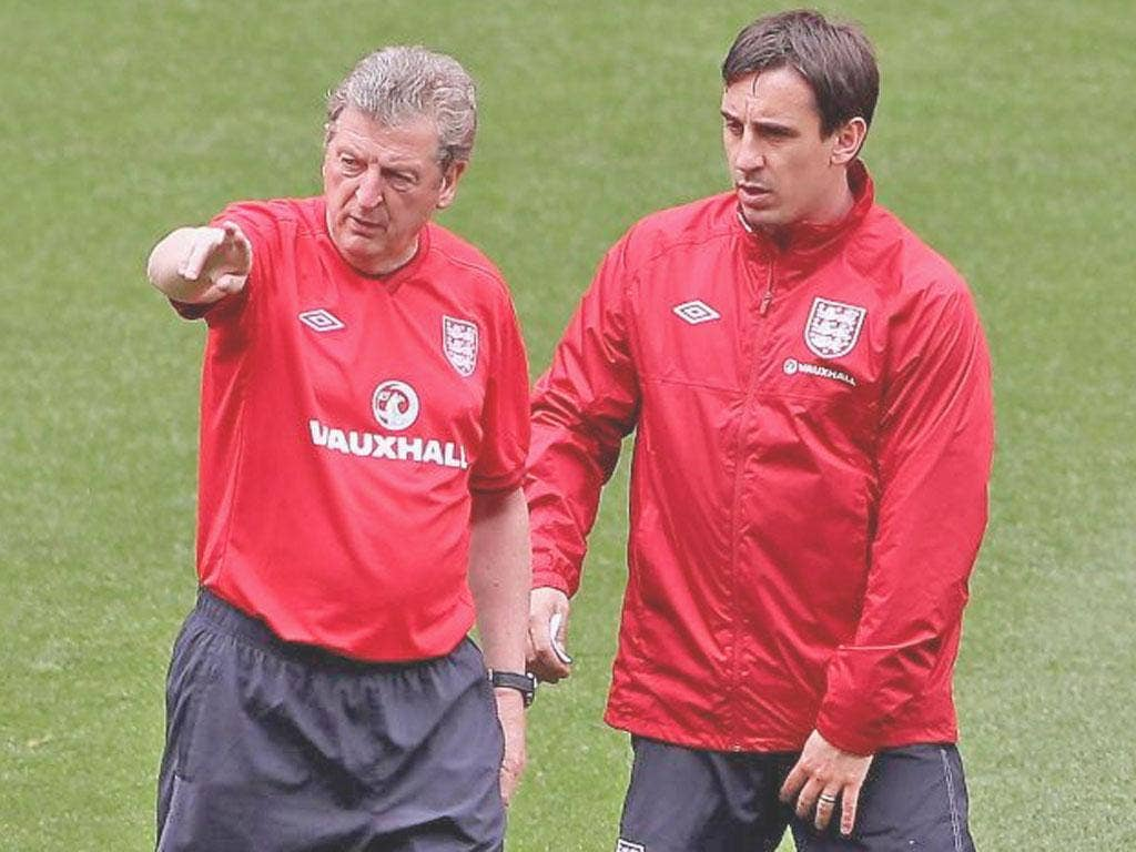Gary Neville says England must build on Roy Hodgson's work at the Euros