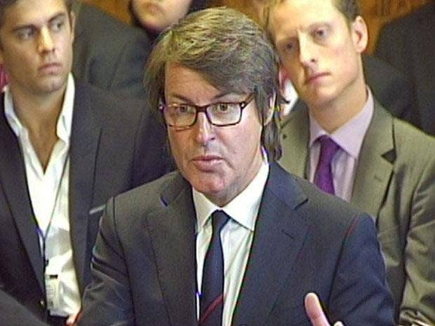 G4S chief executive Nick Buckles gives evidence on Olympic security staffing to the Home Affairs Select Committee