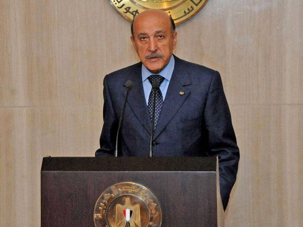 Suleiman in February 2011 during his brief stint as vice-president