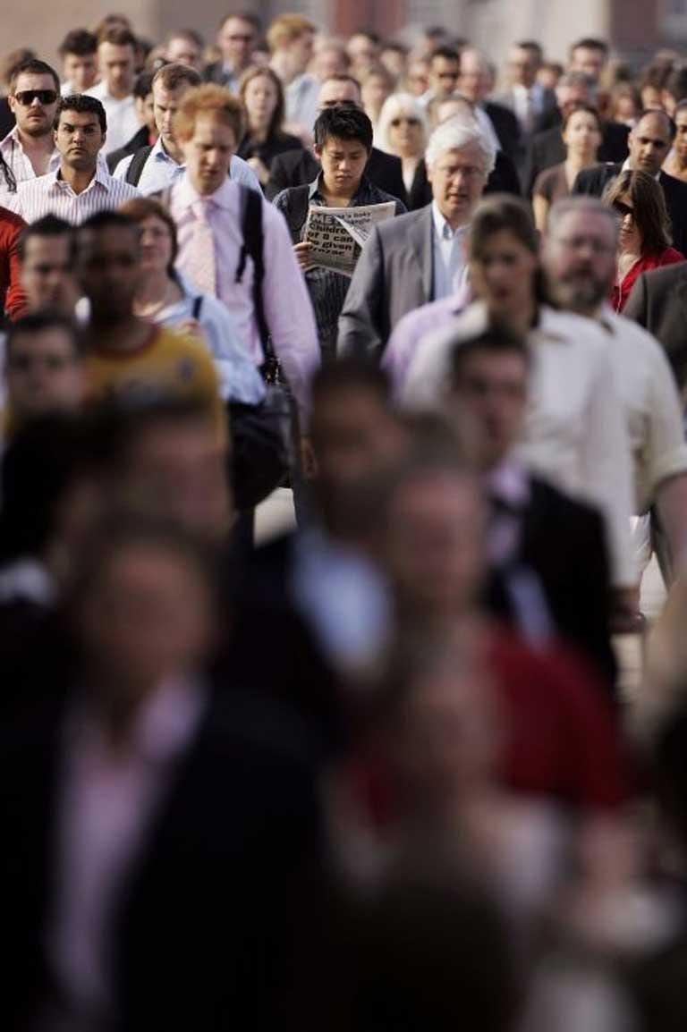 Seething, clamorous megalopolis: The crowd at London bridge