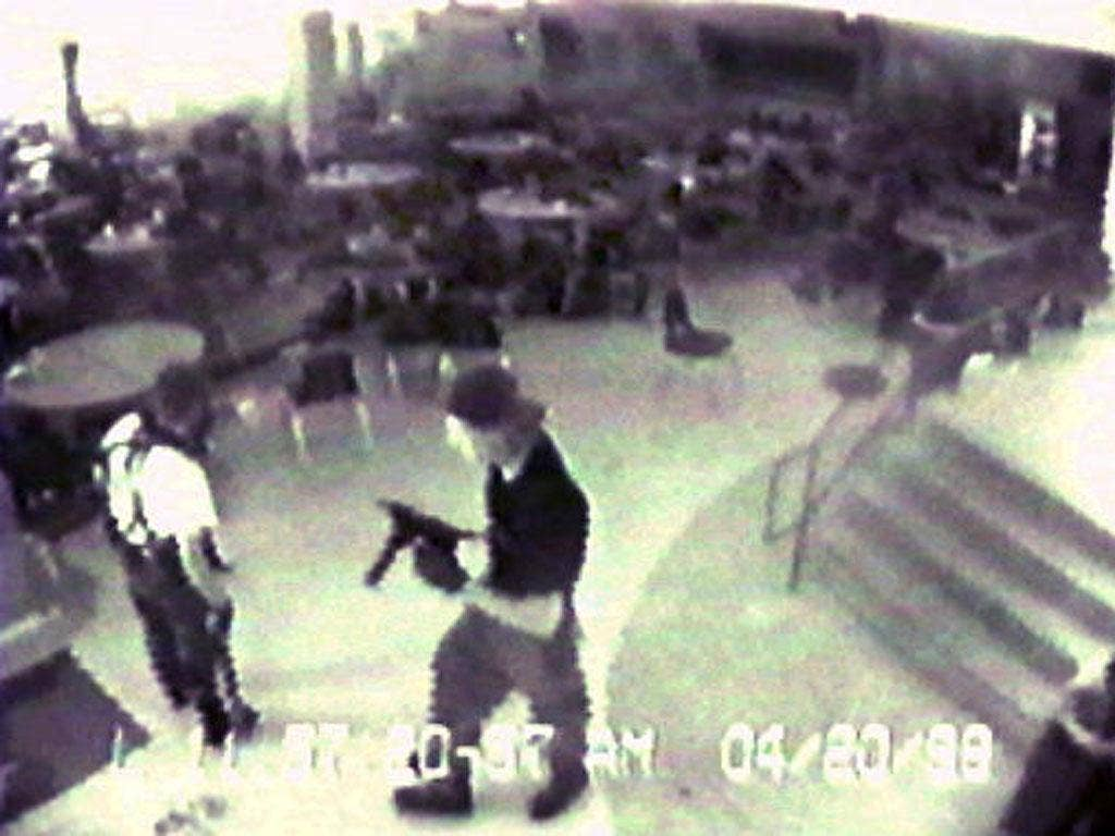 1999: On April 20 1999, two senior students at Columbine High School, Colorado, went on a killing spree which left 12 students and one teacher dead.  Eric Harris and Dylan Klebold also injured 21 other students before committing suicide.  The shootings sp