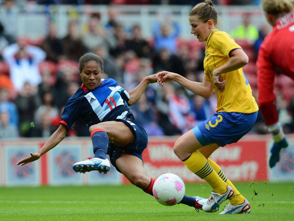 Rachel Yankey in action against Sweden