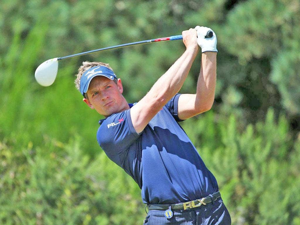 Luke Donald on his way to a final round score of 69