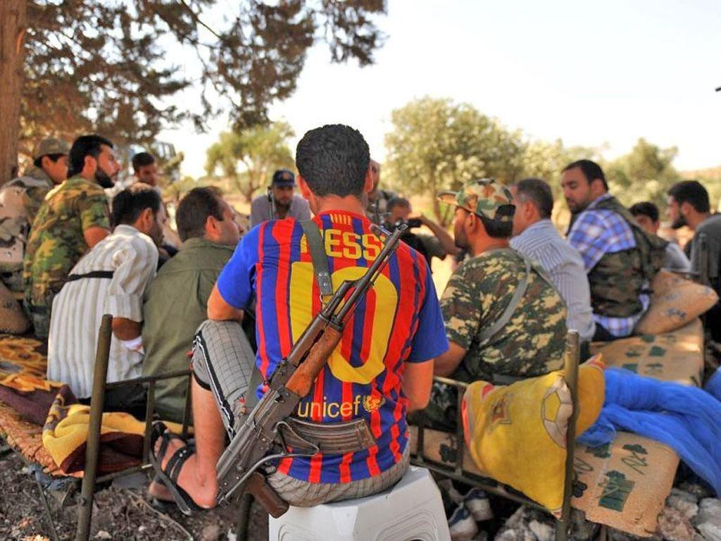 Rebels near Aleppo