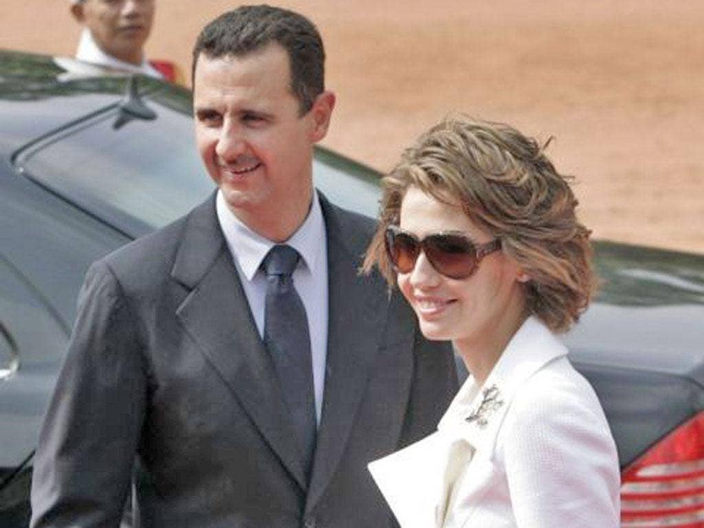 The regime said President Assad and his wife, Asma, had no plans to leave Syria