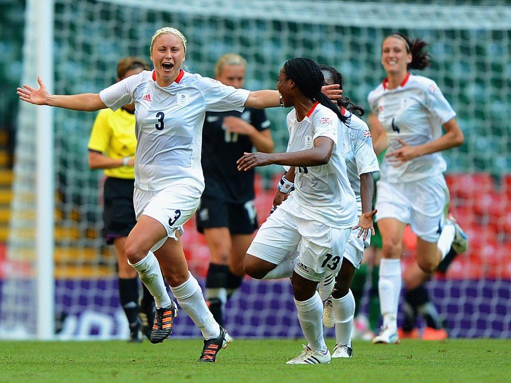 Steph Houghton celebrates the winning goal