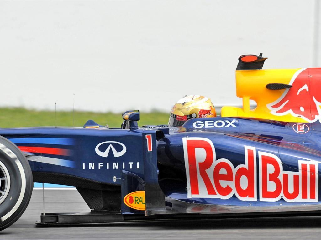 Sebastian Vettel's Red Bull during last weekend's German Grand Prix