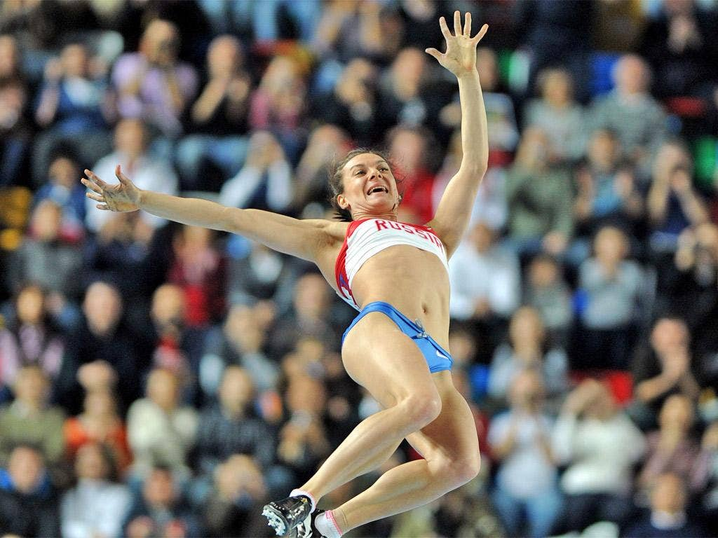 Y is for Yelena Isinbayeva, who is very good at pole vault