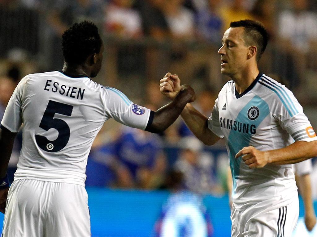 John Terry celebrates his goal