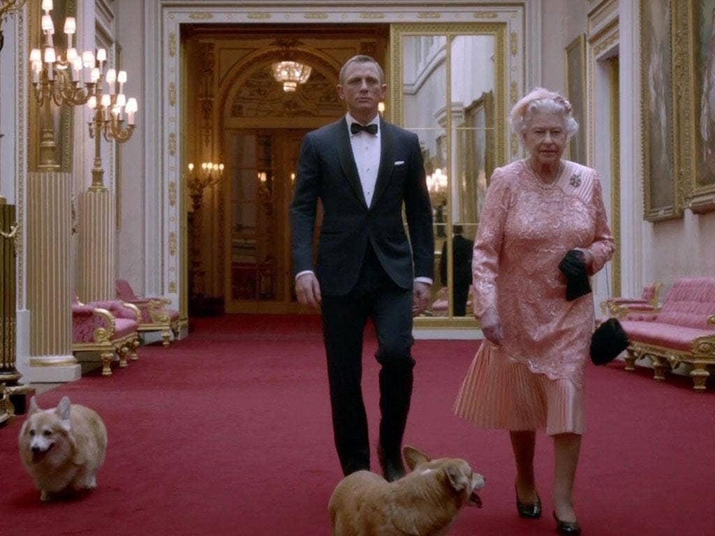 3. 'Good evening, Mr Bond': Escorting the Queen to the Opening Ceremony was not a job for any old security detail. In a specially commissioned film, Daniel Craig's James Bond strode into Buckingham Palace to escort HM. Ably supported by the corgis, the (a