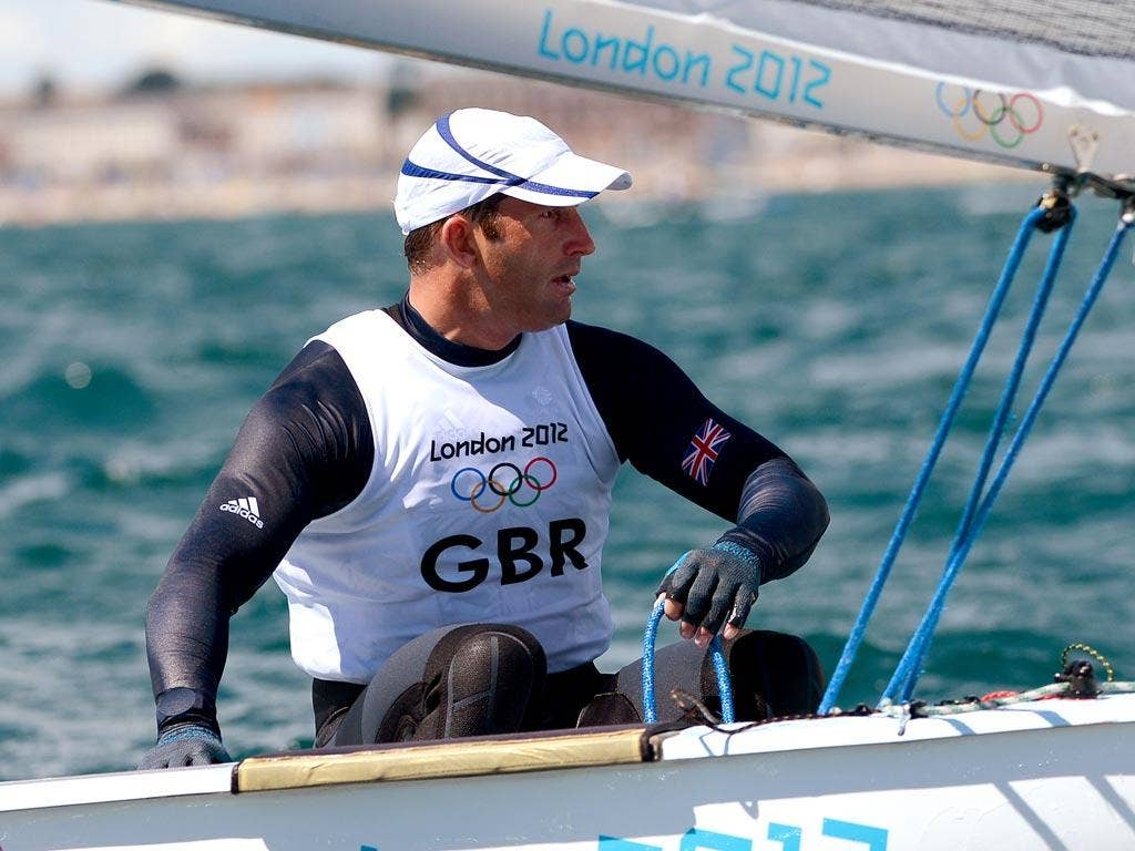 Ben Ainslie in action in Weymouth