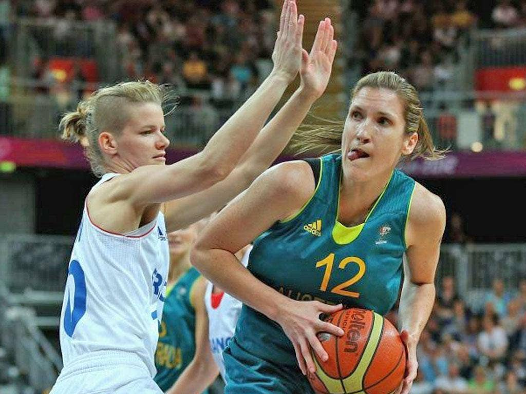 Australia's Belinda Snell pulled off an incredible half-court buzzer-beater