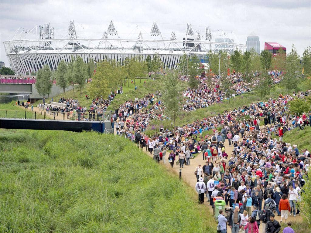 'The Olympic Park feels like a vast concrete Glastonbury'