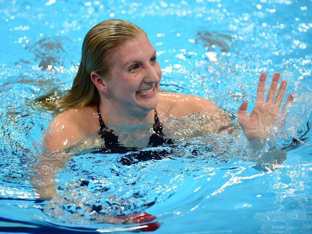 August 2, 2012: Rebecca Adlington was in impressive form in the 800 metres freestyle heats