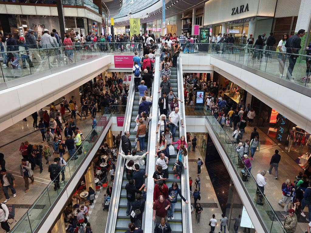 Westfield Stratford City, one of the purported targets