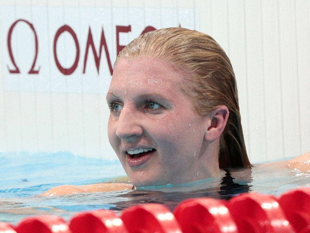 Rebecca Adlington can afford to smile after making a statement in yesterday's qualifying round