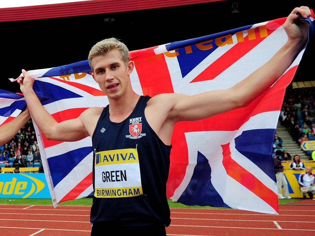 Team GB's 400m hurdler Jack Green