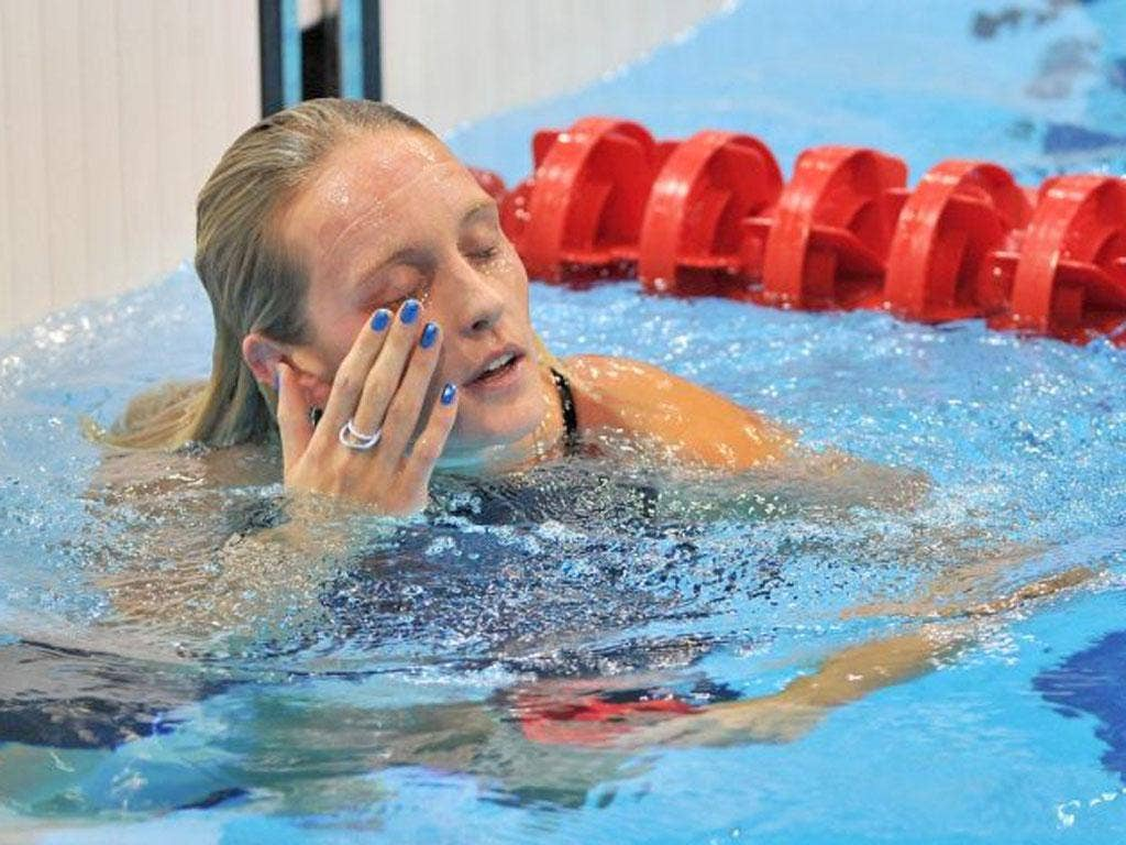 Fran Halsall sums up the mood in the pool for Team GB