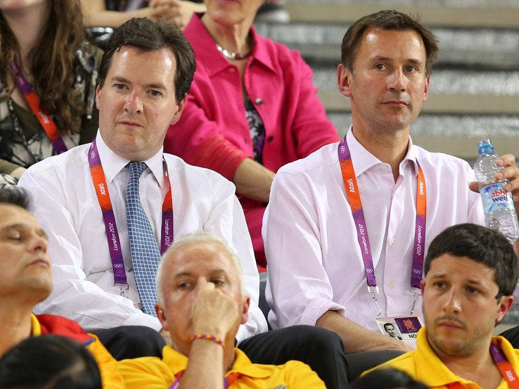 Culture Secretary Jeremy Hunt (right) hopes that Team GB's gold medals will help boost trade