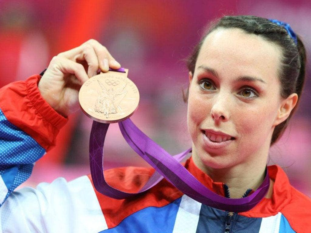 Beth Tweddle's routine was marred by a poor landing but she still ended up with bronze