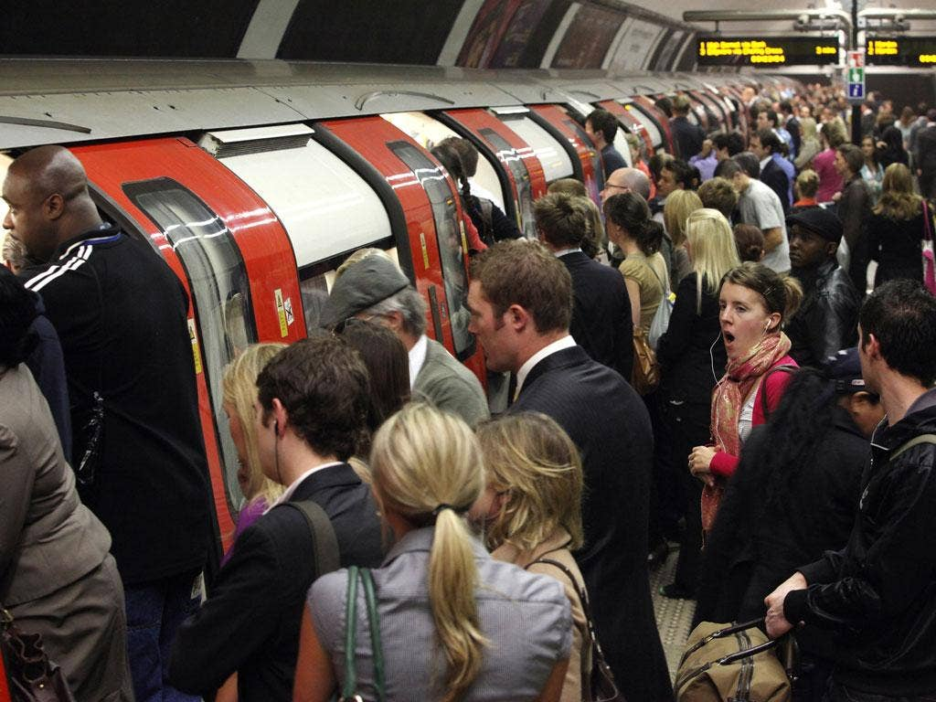 Spectators were disrupted by problems on the Tube