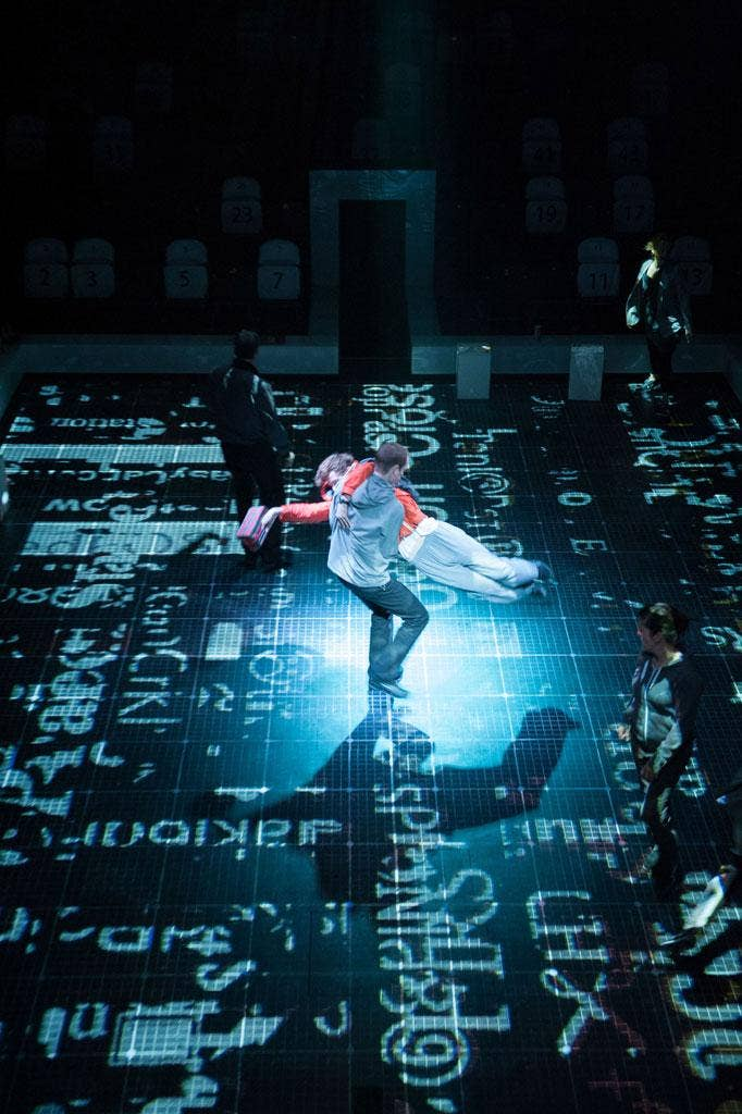 Lights and magic Luke Treadaway in 'The Curious Incident of the Dog in the Night-Time'