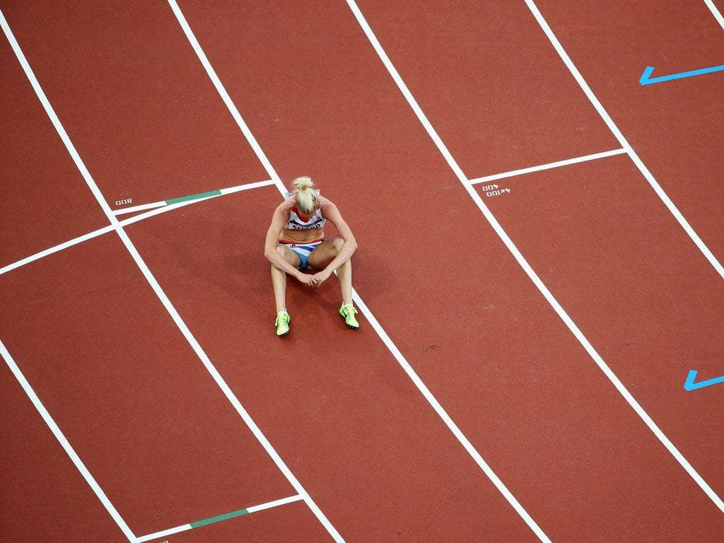 Lynsey Sharp failed to make the Olympic final of the women's 800 metres