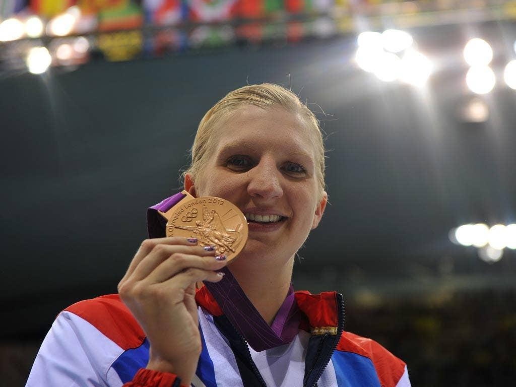 Gold medal hope Rebecca Adlington won two bronze medals