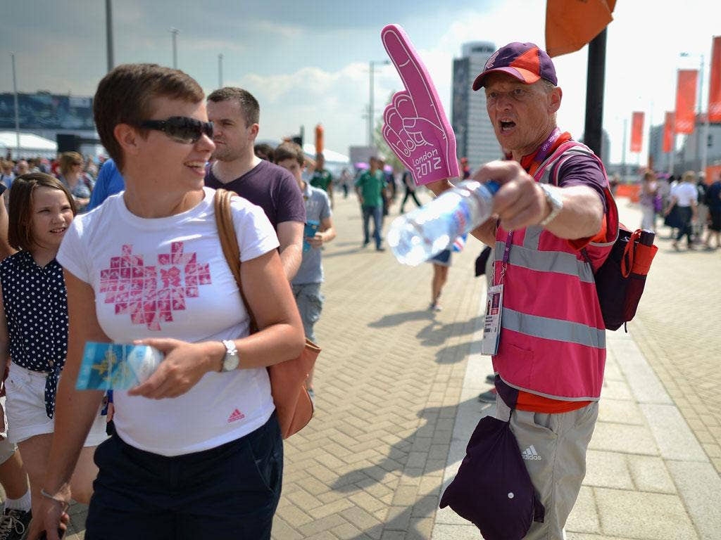 Olympic volunteers have helped to make the Games special