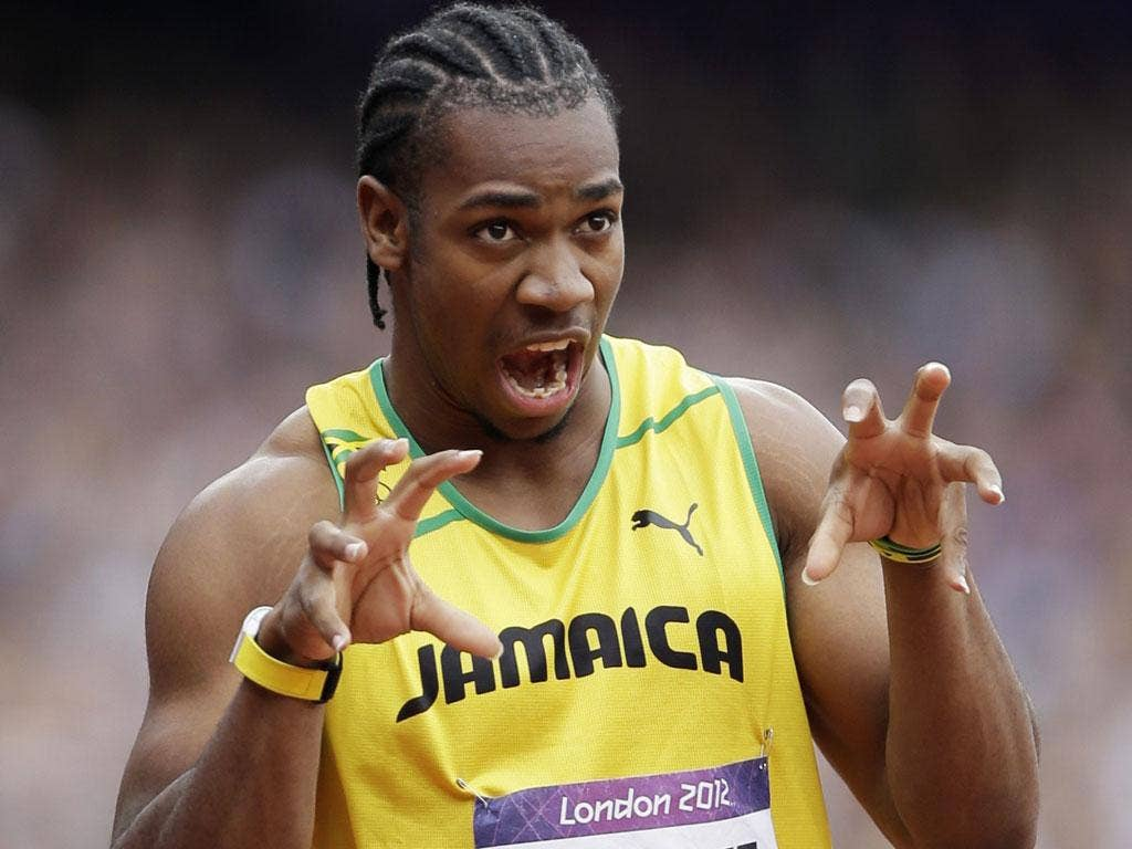 Beauty of the Beast Before the serious business of the sprint finals came the serious showbiz of the runners' introductions. And leading the way, with a lion's roar now being copied from Sheffield to Shanghai, was Yohan Blake, aka 'the Beast'. He may not