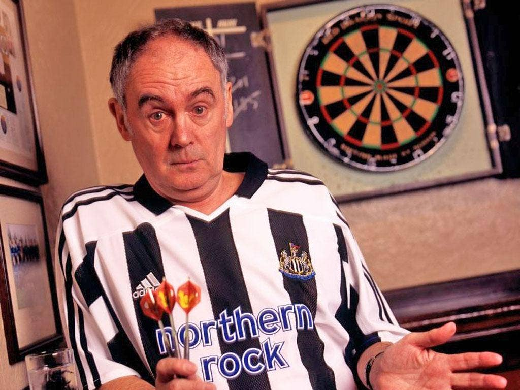 Darts commentator and Newcastle United fan Sid Waddell