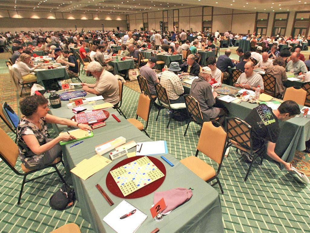 The five-day Scrabble tournament in Orlando attracts hundreds of wordsmiths and has a top prize of £6,400