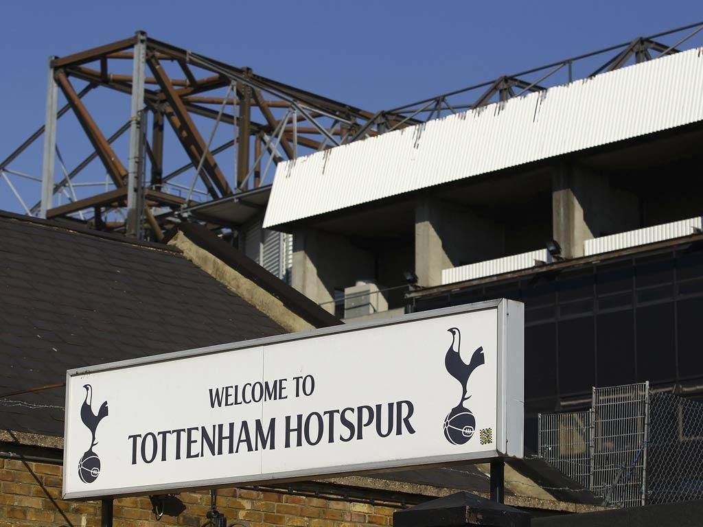 A view of Tottenham stadium White Hart Lane