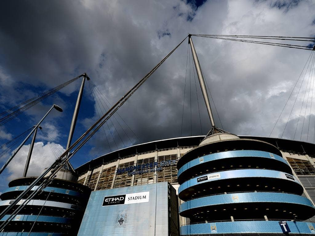 A view of Manchester City's Etihad Stadium