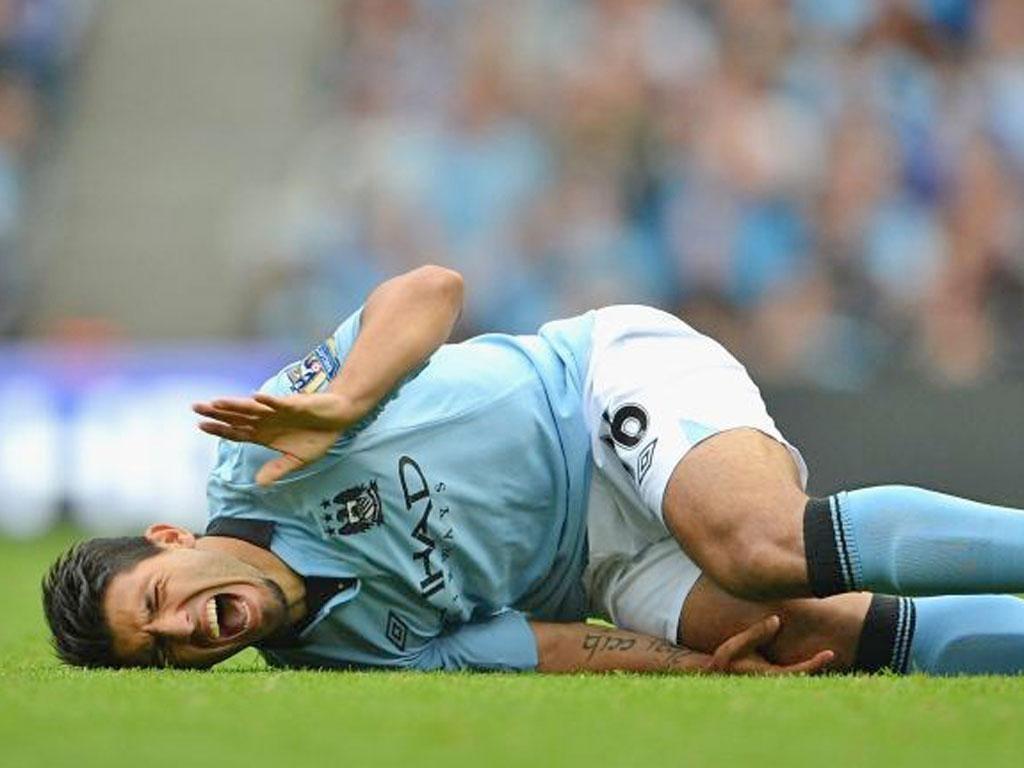 Sergio Aguero was injured just eight minutes into the season