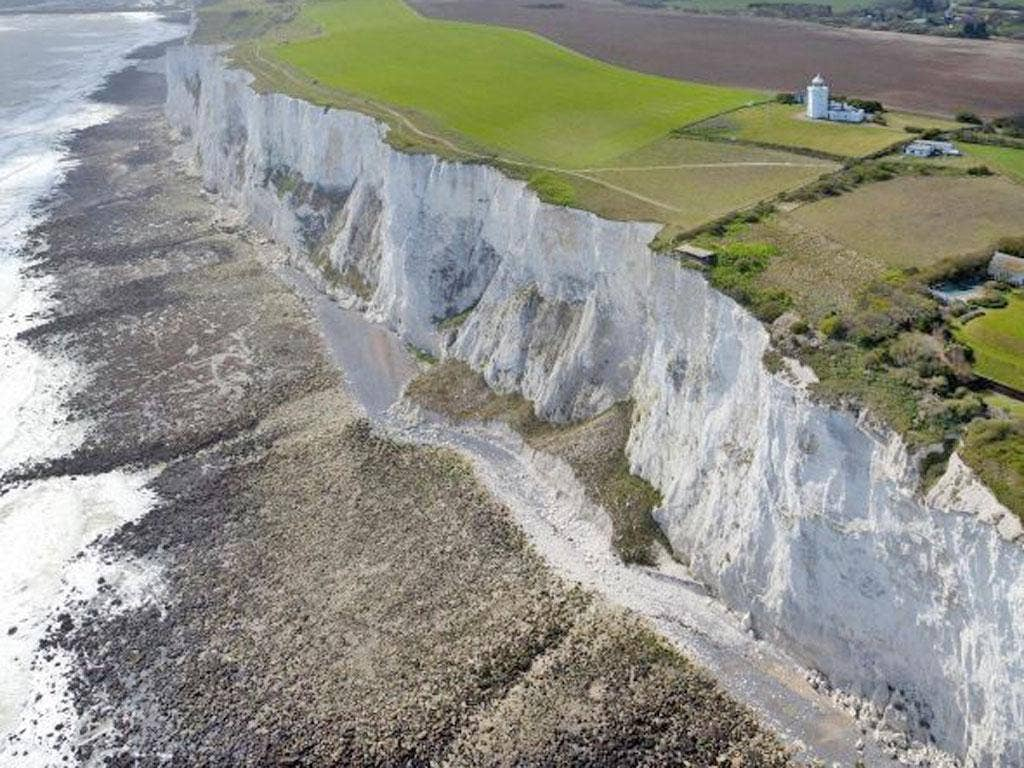 Locals often receive 'Welcome to France' messages, as UK signals in St Margaret's Bay regularly get blocked by the nearby White Cliffs of Dover.