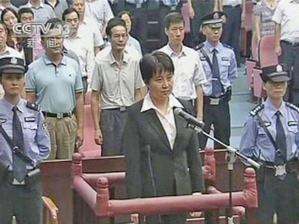 Gu Kailai, wife of Bo Xilai, in the dock for murdering Neil Heywood