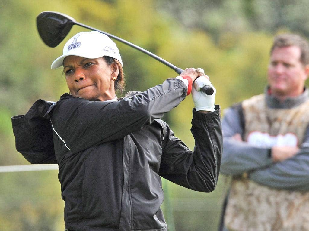 Boys' own: Condoleeza Rice is a new member of Augusta