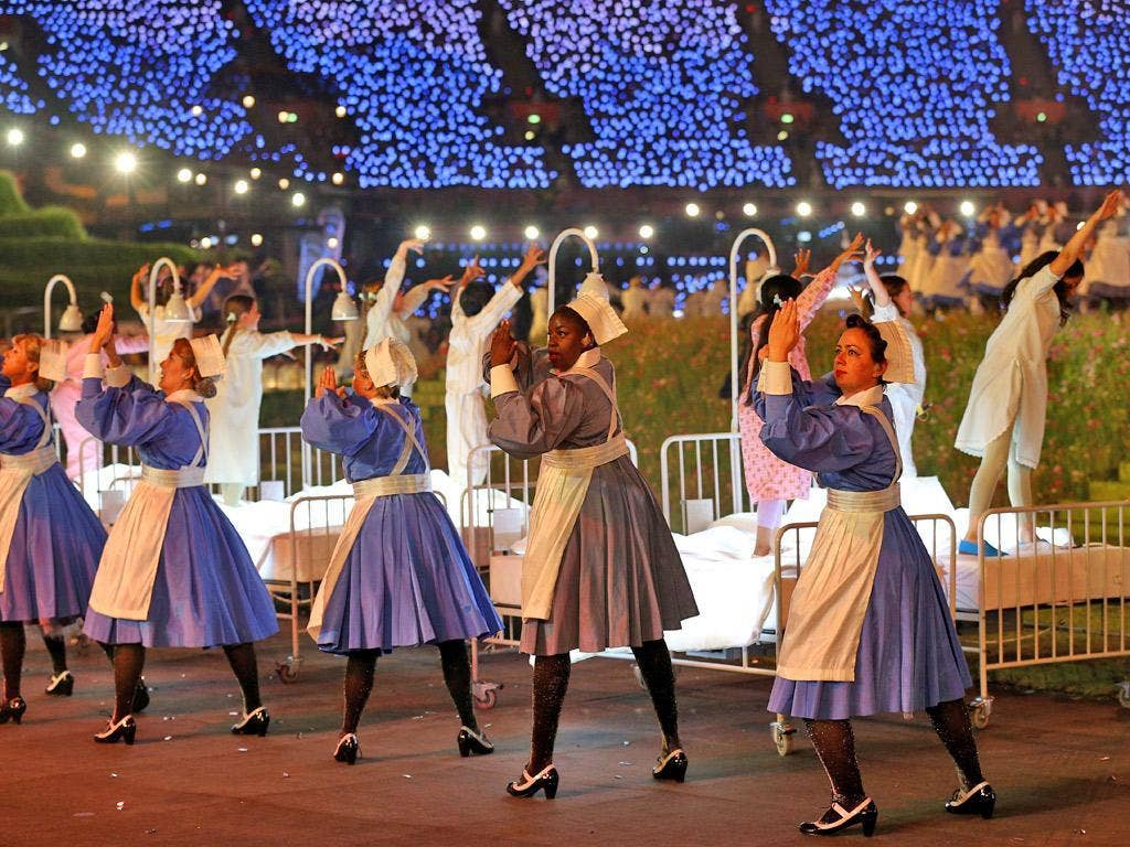 The Olympic opening ceremony celebrated the NHS