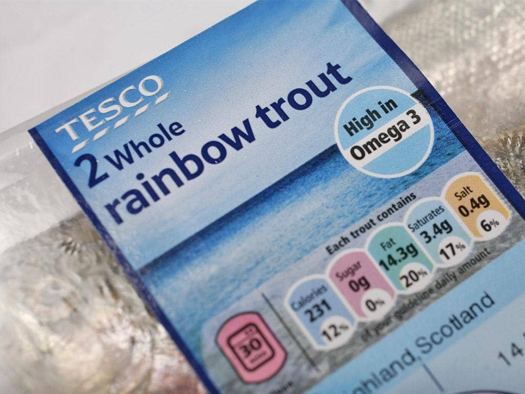 Tesco is to combine its guideline daily allowance system, above, with the traffic light scheme