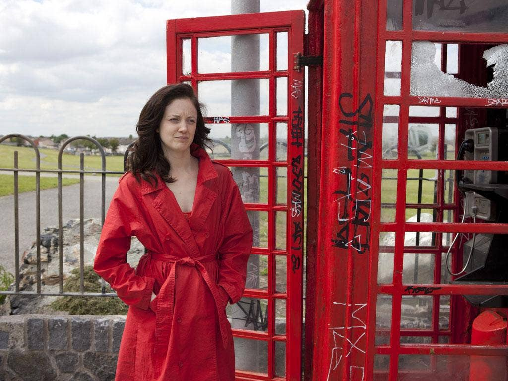 Lady in red: Andrea Riseborough in 'Shadow Dancer'