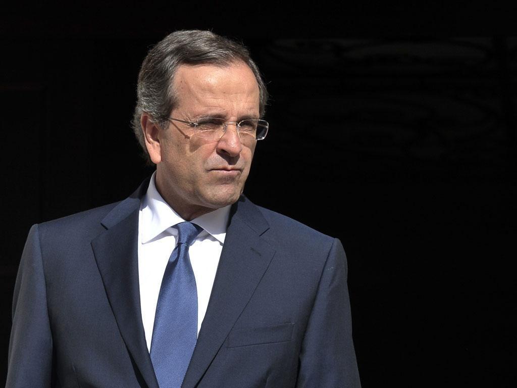 Anxious wait: the Greek Prime Minister, Antonis Samaras