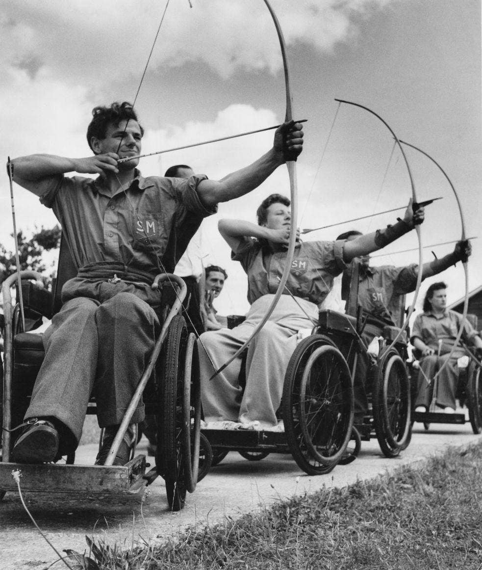 How the games began: attitudes have changed since the days of archery classes at Stoke Mandeville Hospital in 1948