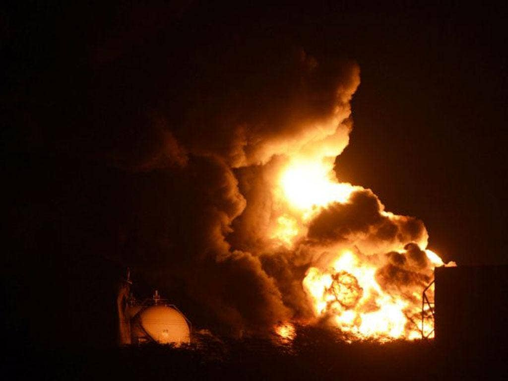 The fire raged at Venezuela's biggest oil refinery for more than three days