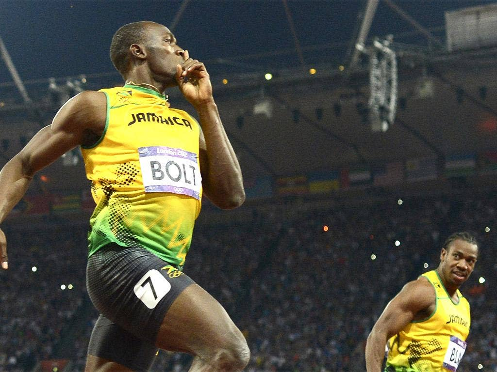 Usain Bolt got the better of Yohan Blake over both 100 and 200 metres in London