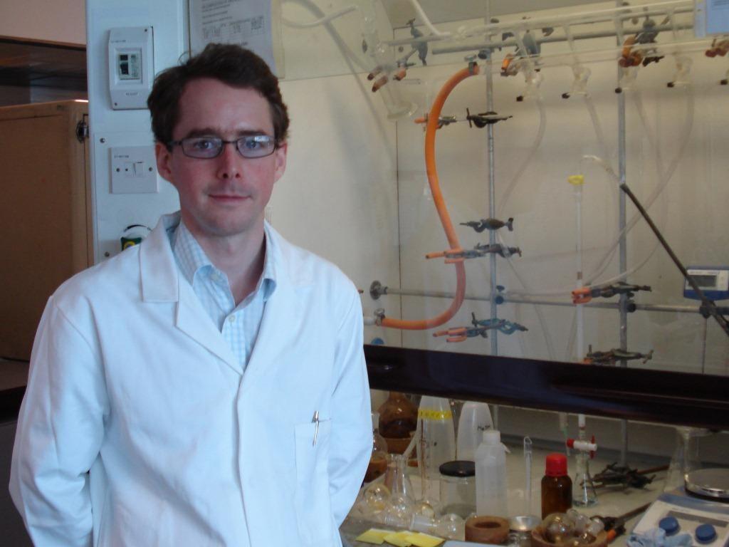 Edmund Burke and chemistry lab equipment