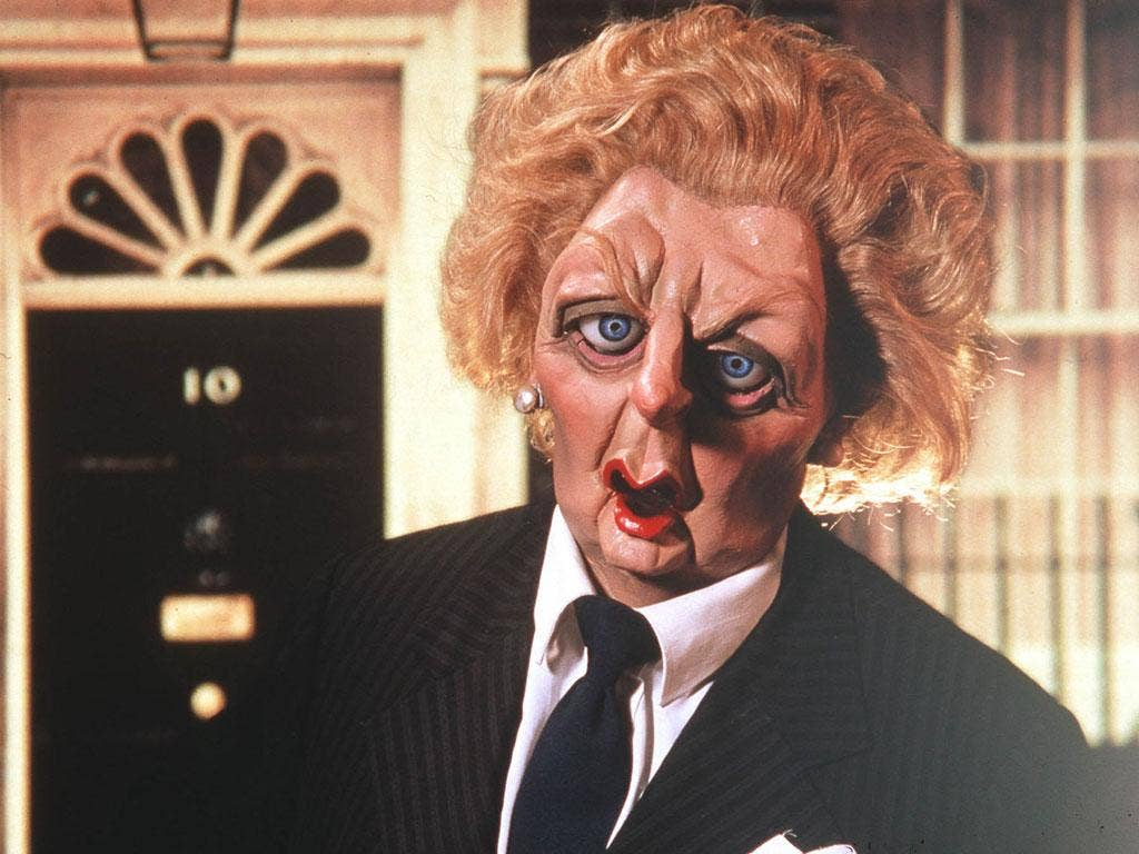 Thatcher as she appeared on Spitting Image